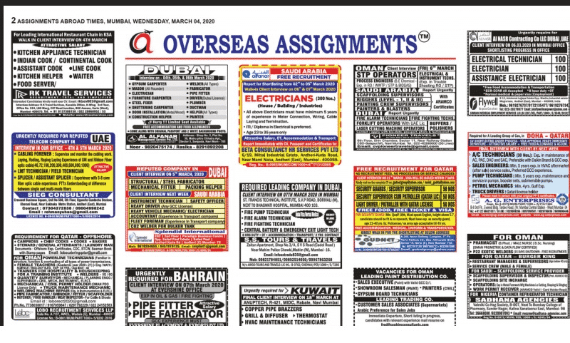 Assignment Abroad Times 04th March 2020