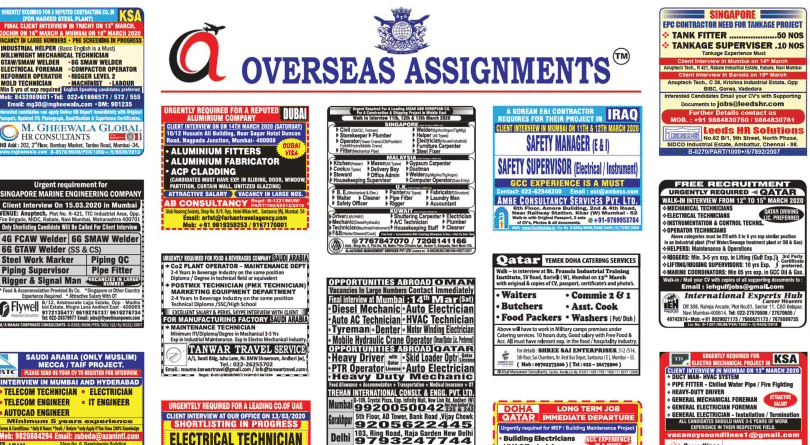 Assignment Abroad Times 11th March 2020