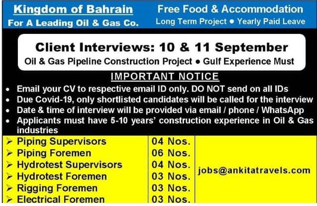 Kingdom of Bahrain  Client Interviews: 10 & II September