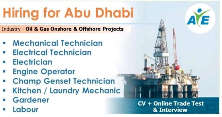 Hiring for Abu Dhabi