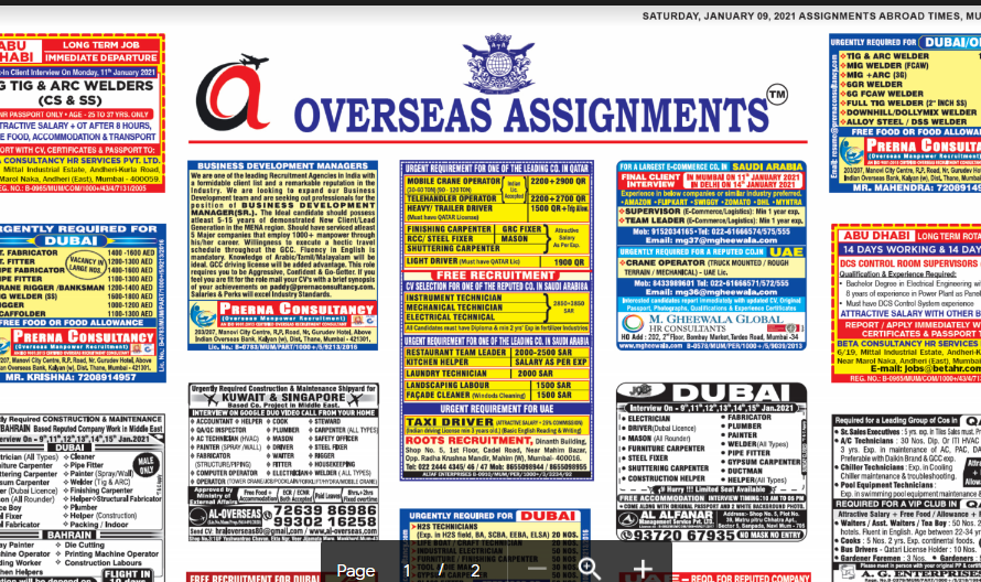 Assignment Abroad Times  30th June 2021