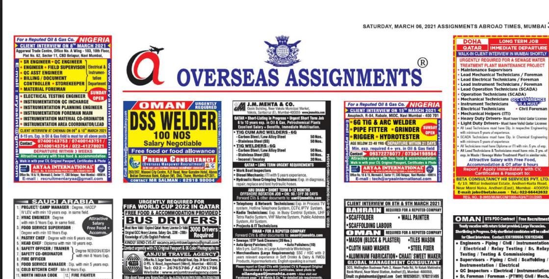Assignment Abroad Times 07th July 2021