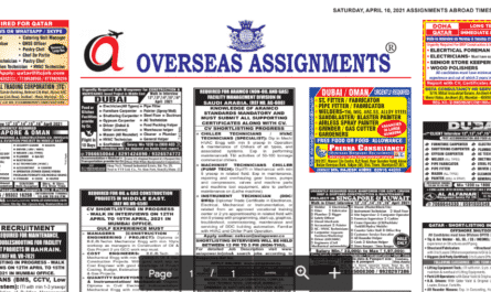 Assignment Abroad Times 22nd May 2021