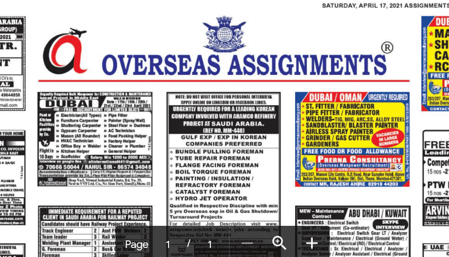 Assignment Abroad Times 05th June 2021