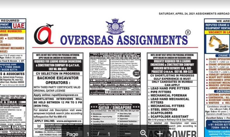 Assignment Abroad Times 09th June 2021