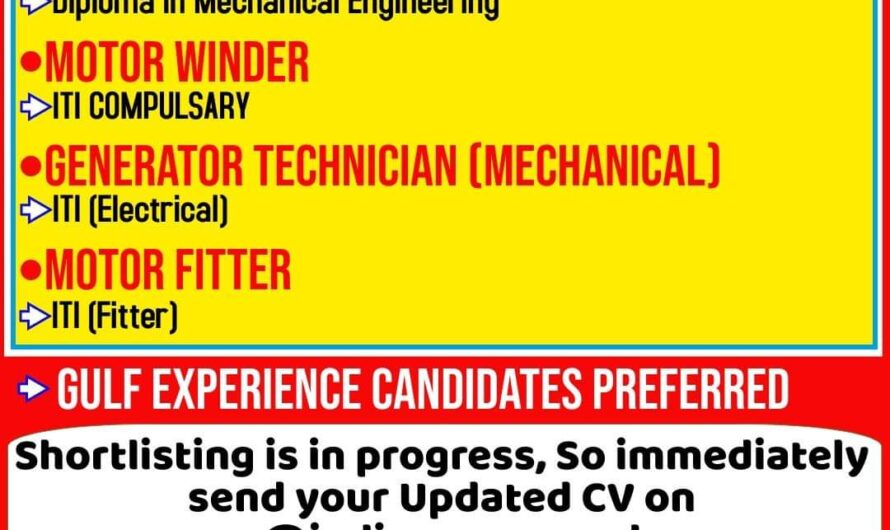 REQUIRED FOR A LEADING COMPANY OMAN