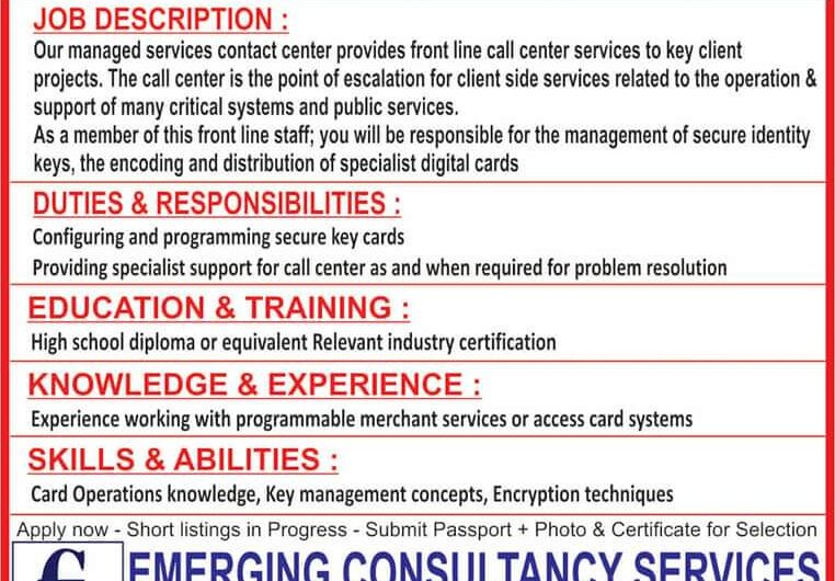 URGENTLY REQUIRED FOR LEADING QATAR