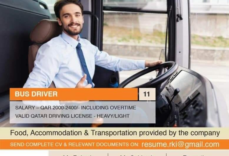 BUS DRIVERS REQUIRED FOR QATAR
