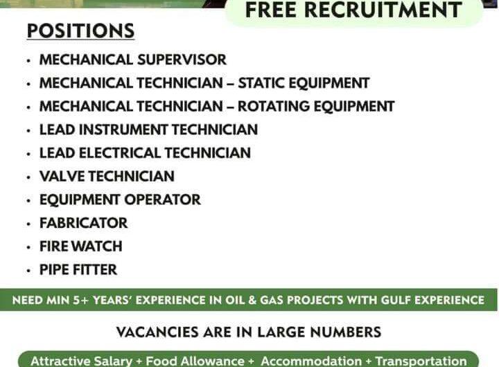 Urgent Requirement For QATAR