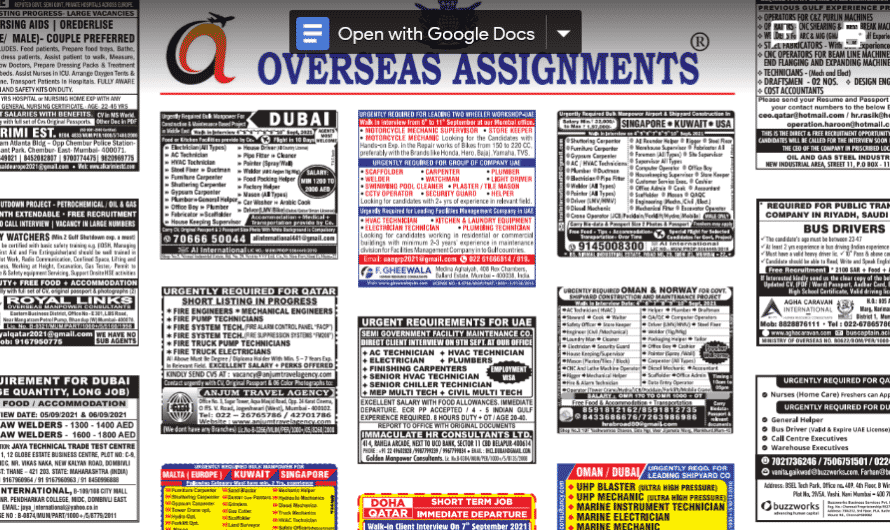 Assignment Abroad Times 04th September 2021