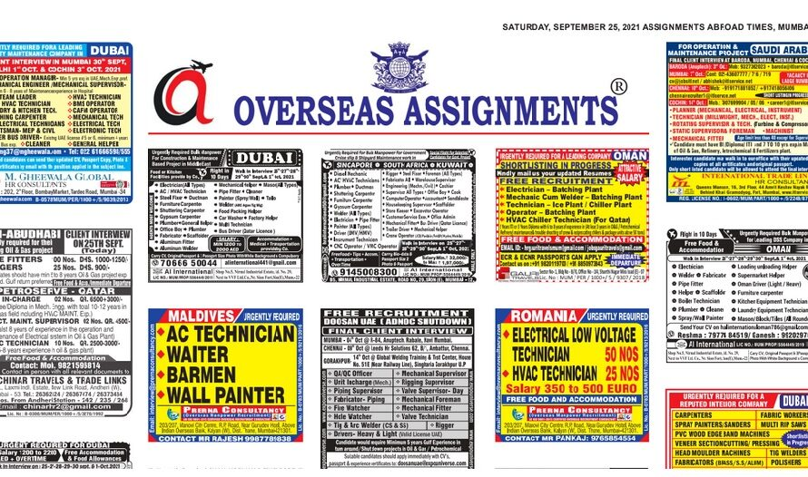 Assignment Abroad Times 25th September 2021